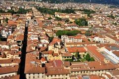 从中央寺院看的佛罗伦萨全景,意大利 免版税库存照片
