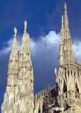 中央寺院米兰尖顶 免版税库存照片