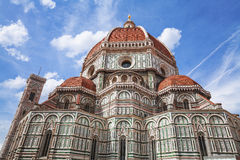 中央寺院,圣玛丽亚del菲奥雷在佛罗伦萨 意大利托斯卡纳 免版税库存图片