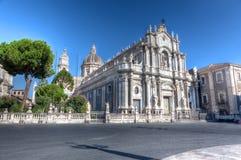 中央寺院,大教堂,卡塔尼亚,西西里岛,意大利 库存图片