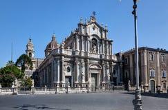 中央寺院,大教堂,卡塔尼亚,西西里岛,意大利 库存照片