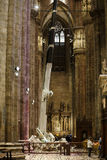中央寺院,米兰内部  免版税库存照片