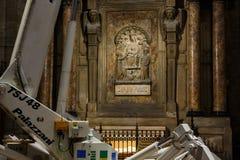 中央寺院,米兰内部  库存图片