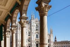 中央寺院,米兰地标  免版税库存图片