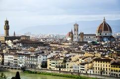 中央寺院, Palazzo Vecchio,历史的市中心,佛罗伦萨 免版税库存照片