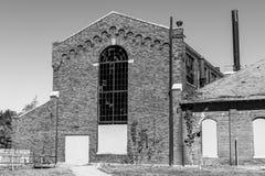 中央州医院,正式地指疯狂的中央印第安纳医院-能源厂,修造1886年II 免版税图库摄影