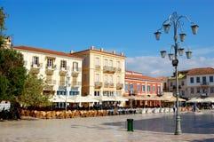 中央希腊nafplio老广场 免版税库存照片
