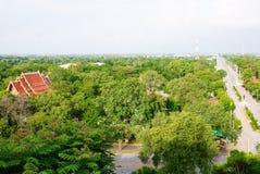 中央平面的横向泰国 图库摄影