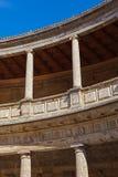 中央庭院在阿尔罕布拉宫宫殿在格拉纳达西班牙 免版税库存图片