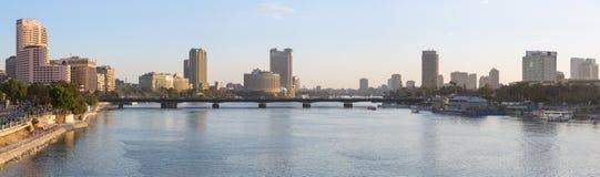 中央开罗地平线 免版税库存图片