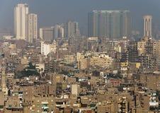 中央开罗看法  免版税库存照片