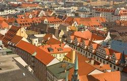 中央德国慕尼黑屋顶 免版税库存照片