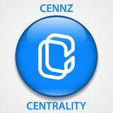 中央性硬币cryptocurrency blockchain象 真正电子,互联网金钱或cryptocoin标志,商标 皇族释放例证