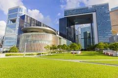 中央政府复合体在香港 免版税库存照片