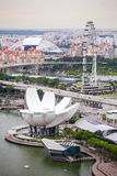 中央新加坡看法: 免版税库存图片
