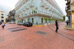 中央旅馆Casco Viejo巴拿马市 库存图片