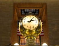 中央时钟全部终端 免版税库存照片