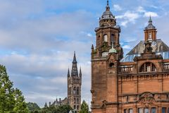 中央格拉斯哥看法在苏格兰 免版税图库摄影