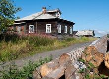 中央横向农村俄国俄语村庄 库存图片