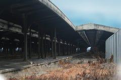 中央泽西新的铁路终端 库存图片