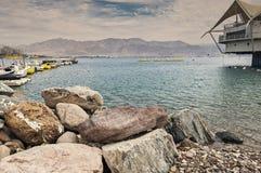 中央海滩在埃拉特 图库摄影
