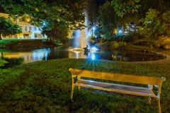 中央温泉公园- Marianske Lazne -捷克 免版税库存照片