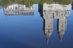 中央湖公园表面 库存照片