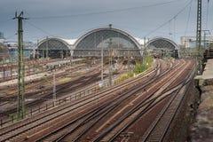 中央火车站在德累斯顿德国 库存图片