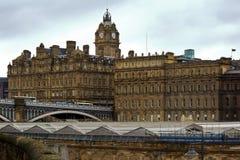 中央爱丁堡 库存照片