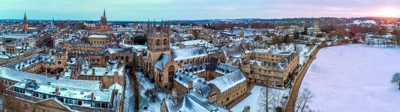 中央牛津,英国鸟瞰图  库存照片