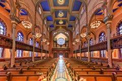 中央犹太教堂-纽约 库存图片