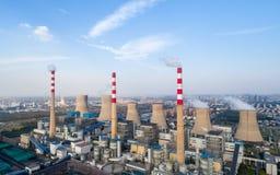中央系统暖气工厂次幂上升暖流 图库摄影