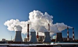 中央系统暖气工厂次幂 库存照片