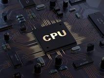 中央计算机处理器CPU概念 皇族释放例证