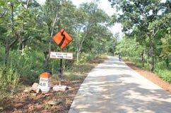 中央邦,印度路  免版税库存照片