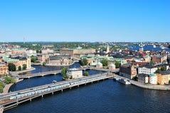 中央部分斯德哥尔摩 免版税图库摄影