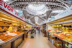 中央食物市场在巴伦西亚 库存图片