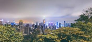 中央香港全景  免版税库存图片