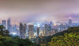中央香港全景  免版税库存照片