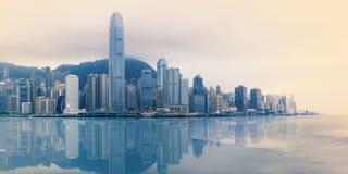 中央香港全景  免版税图库摄影