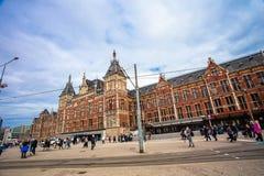 中央驻地火车运输插孔阿姆斯特丹 图库摄影