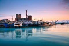 中央鱼市在比雷埃夫斯,雅典。 库存图片