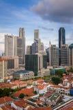 中央财政区摩天大楼-新加坡 库存图片