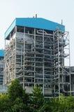 中央系统暖气工厂次幂上升暖流 免版税图库摄影
