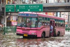 中央洪水击中泰国泰国 图库摄影