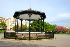 中央corfu希腊老公园 库存图片