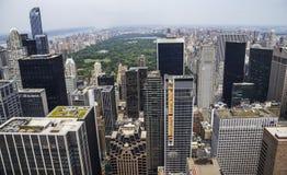 中央Parc纽约视图从洛克菲勒的 免版税库存图片