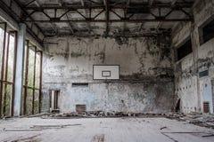 中学在Pripyat 图库摄影