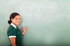 中学数学 免版税库存图片