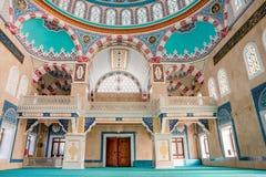 中心伊萨贝清真寺内部看法在伯萨 免版税库存图片
